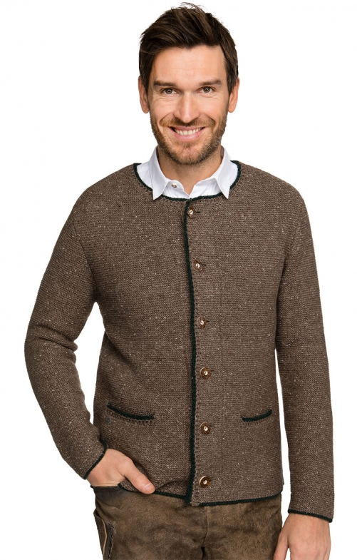 Traditional german cardigan Walden nut