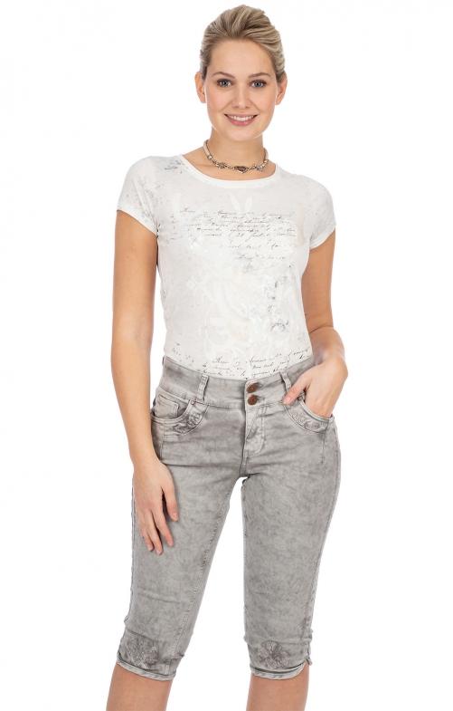 Trachten Jeans HENDRINA over knee gray