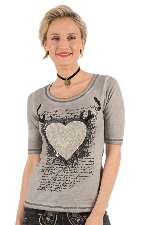 Trachten Shirt D22 - OLGA gray