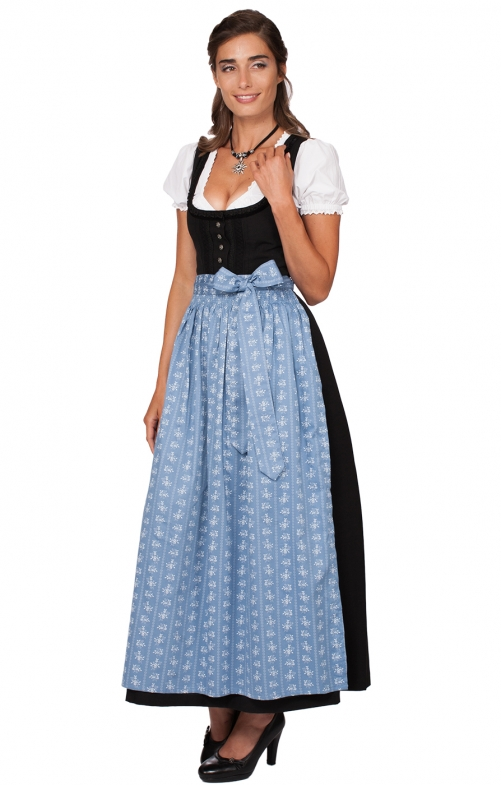 Dirndl long 96cm 1pc. ZENTA3 SC235 smoke blue