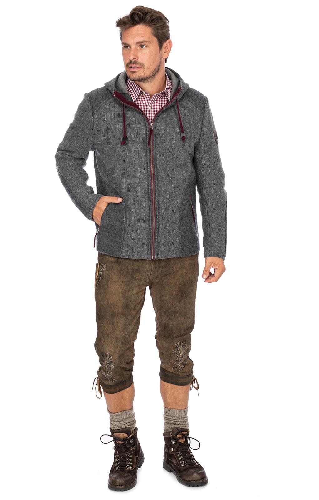 weitere Bilder von German traditional jacket MARBURG medium gray