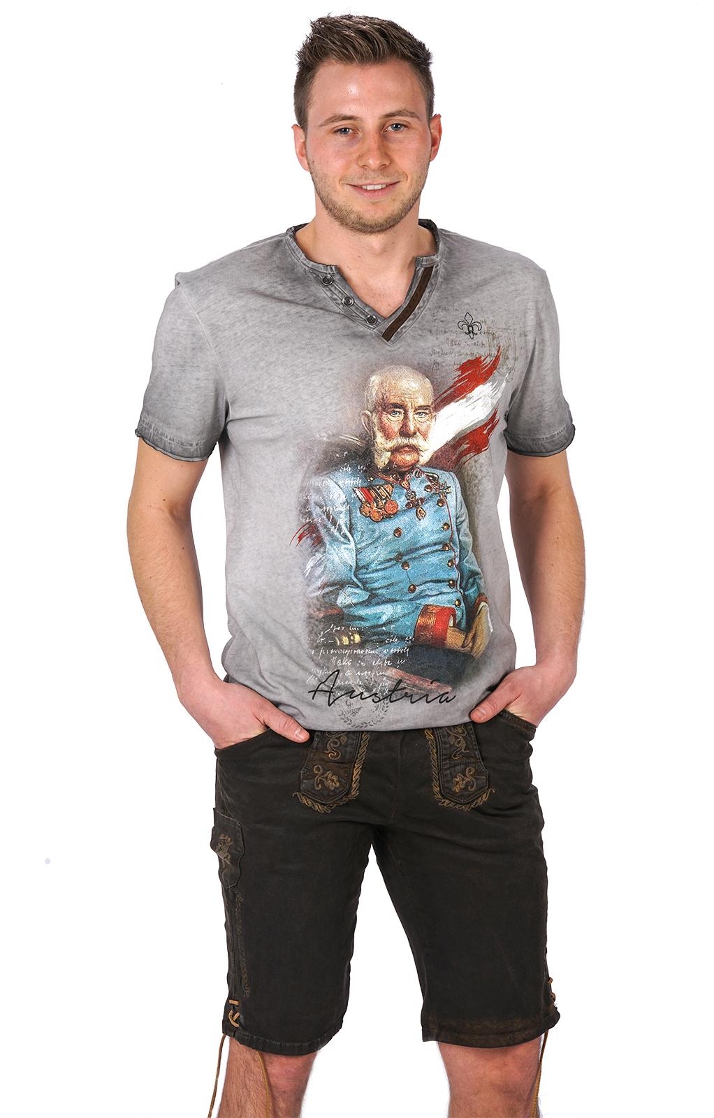 weitere Bilder von Trachten T-Shirt FRANZ-JOSEF grau