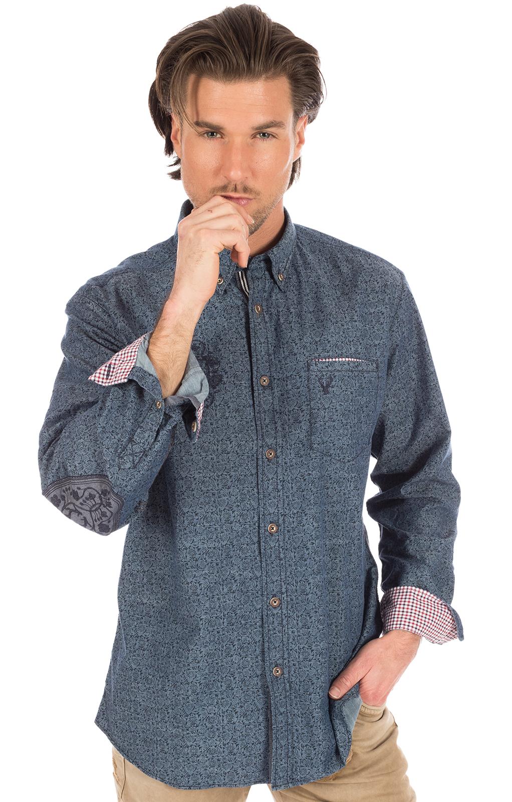 Camicia per Trachten blu von Krüger Dirndl