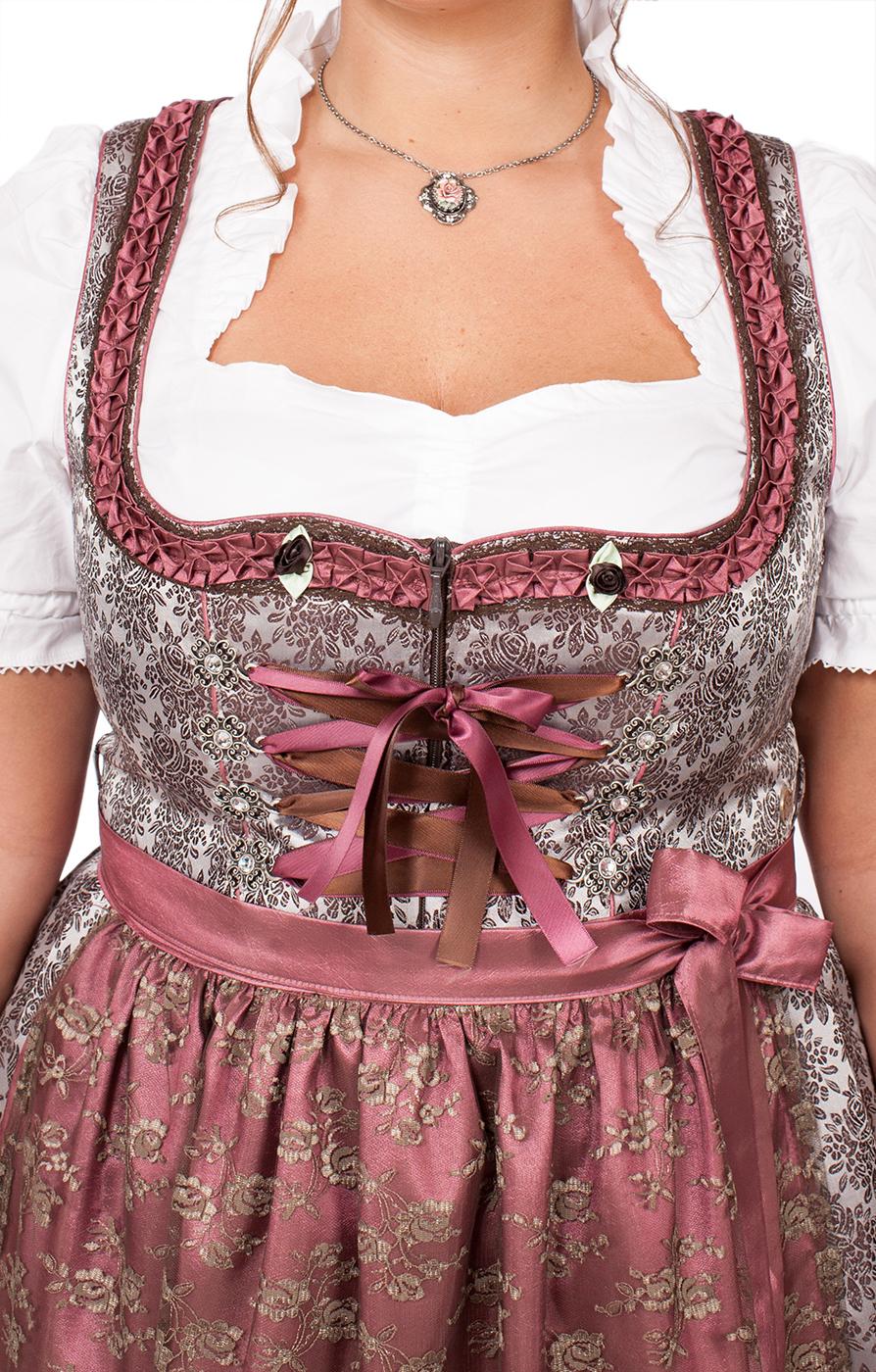weitere Bilder von Mididirndl 2 delig 65cm RAVINA-PlusSize-bruin pink