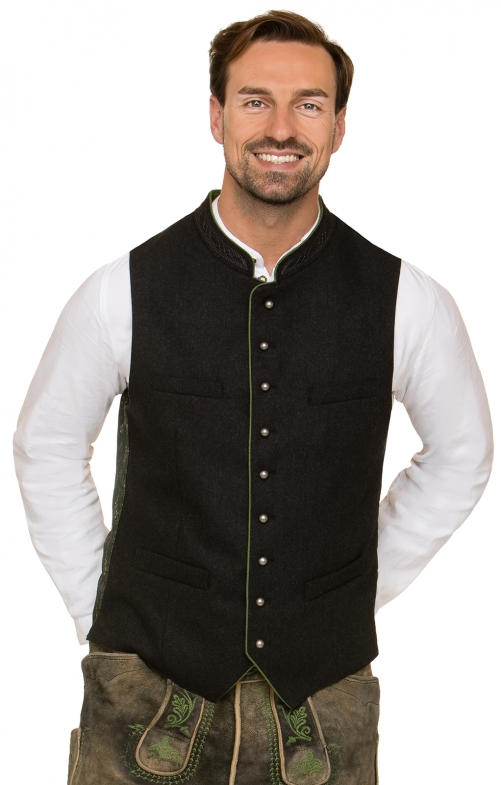Traditional waistcoat CLEMENS gray/green