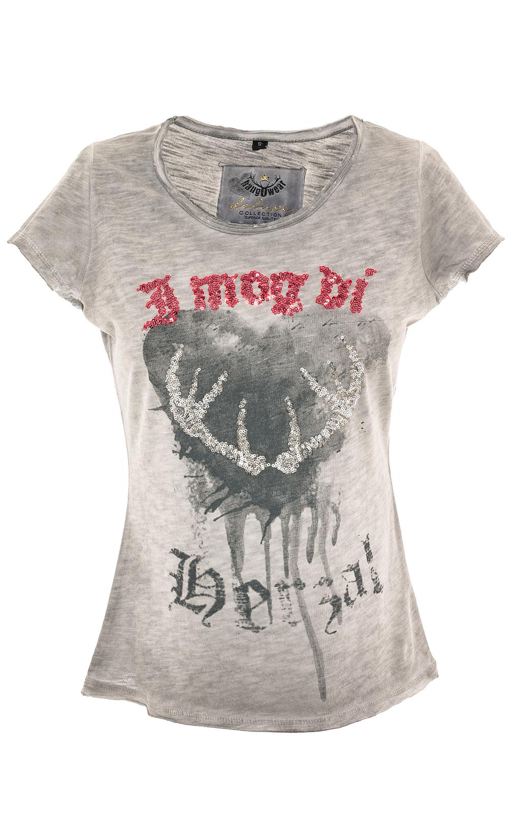 weitere Bilder von Trachten T-Shirt INDIRA grau