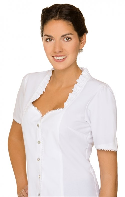 Traditional blouse CLARISSA white