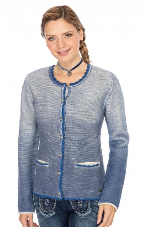 sale retailer a8071 49ffe Spieth & Wensky Trachten Strickjacke MARZIPAN blau