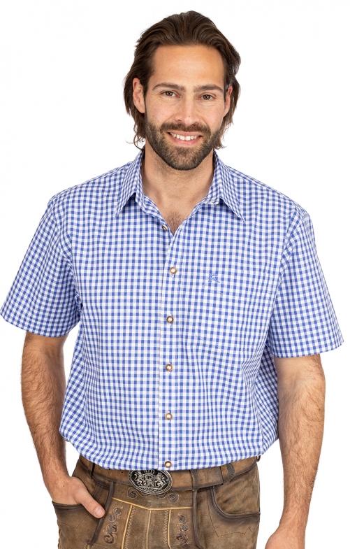 Karo Kurzarmhemd ALZACH blau