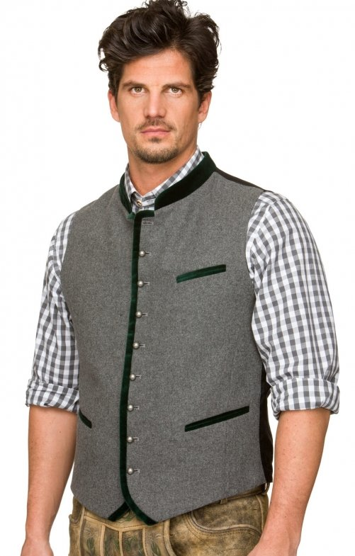 Traditional waistcoat ALONSO forest