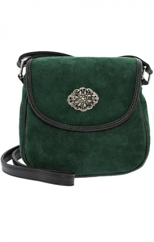 Traditional leather bag green
