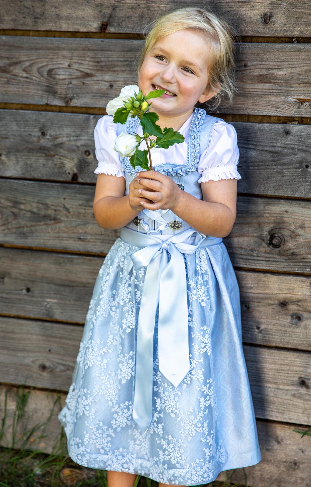 Kinder Dirndl 3tlg. ELOISA KIDS hellblau von Marjo