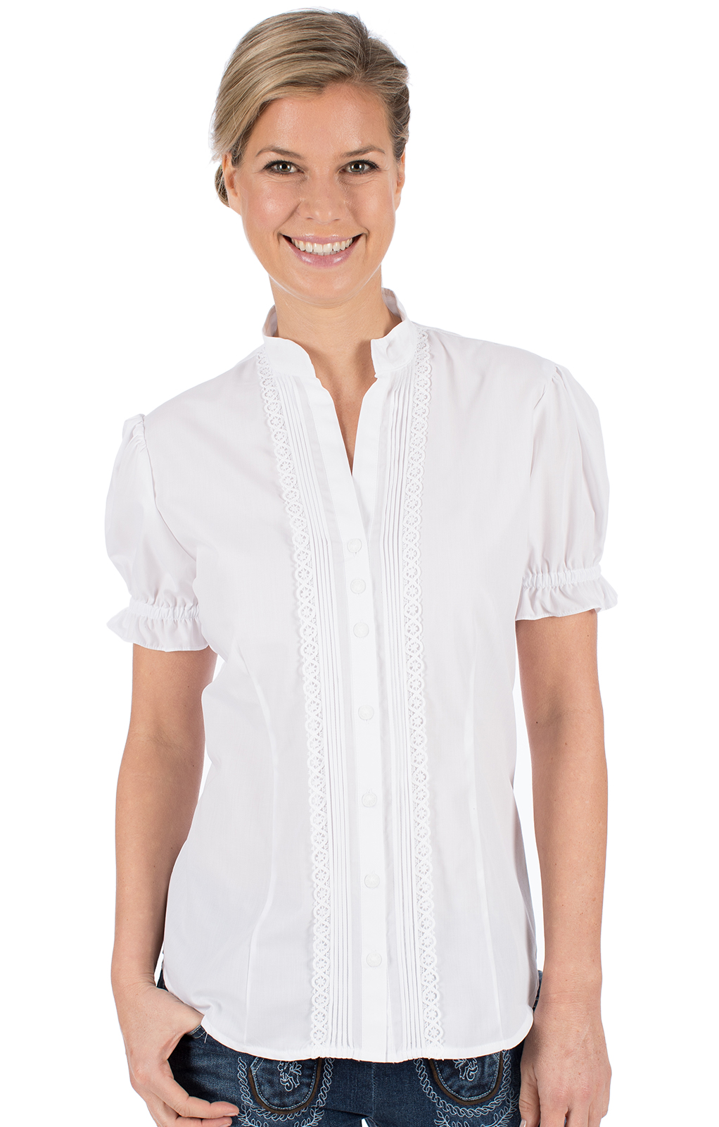 Traditional blouse IRMI white von OS-Trachten