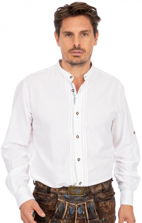 Stehkragenhemd JONAS weiß hellblau