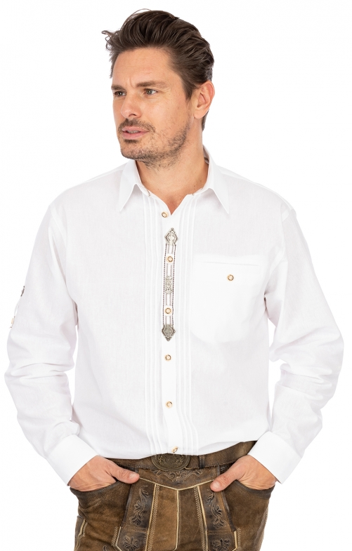 German traditional shirt Thomas white