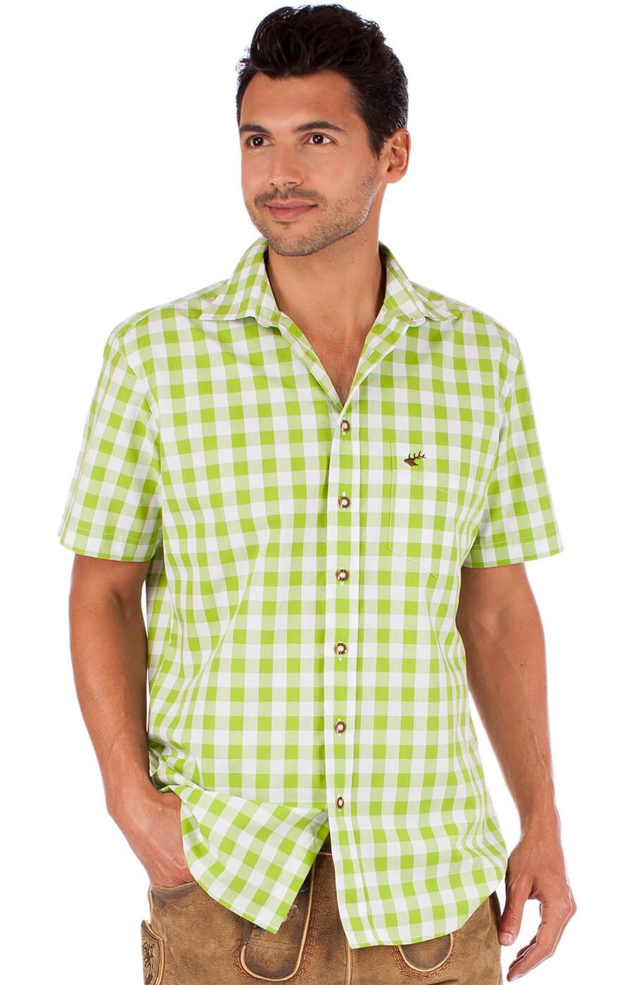 Tradizionale camicia a maniche corte 921000-3052-51 mela von OS-Trachten