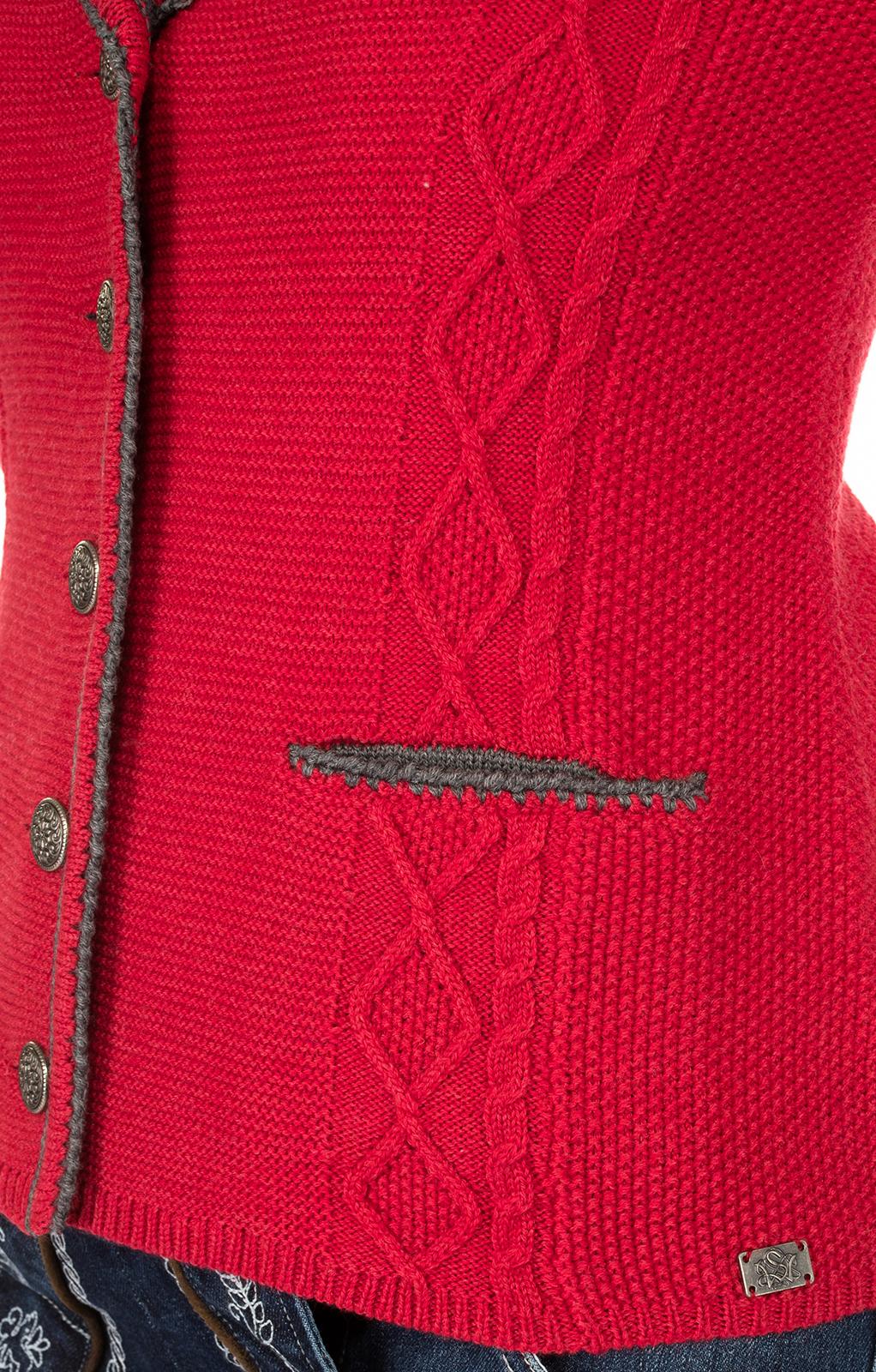 weitere Bilder von Trachtenstrickjacke GIANNA Reversform rot