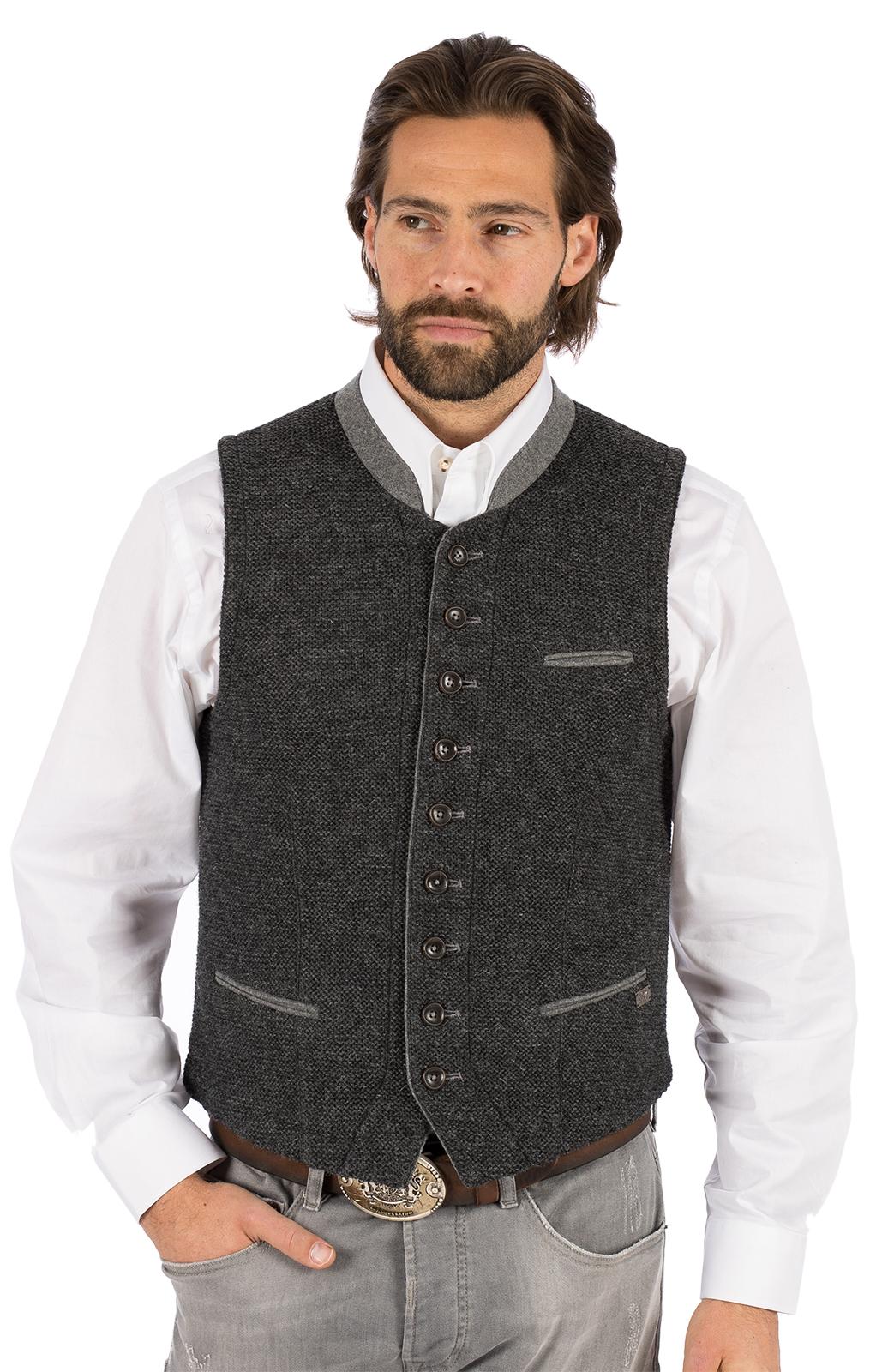 Gilet Costumi maglia KNALLER SW grigio scuro von Spieth & Wensky