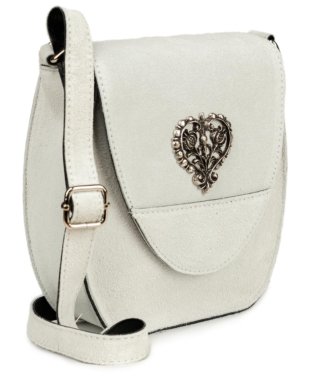 weitere Bilder von Traditional leather bag with heart TA30410-8525 white