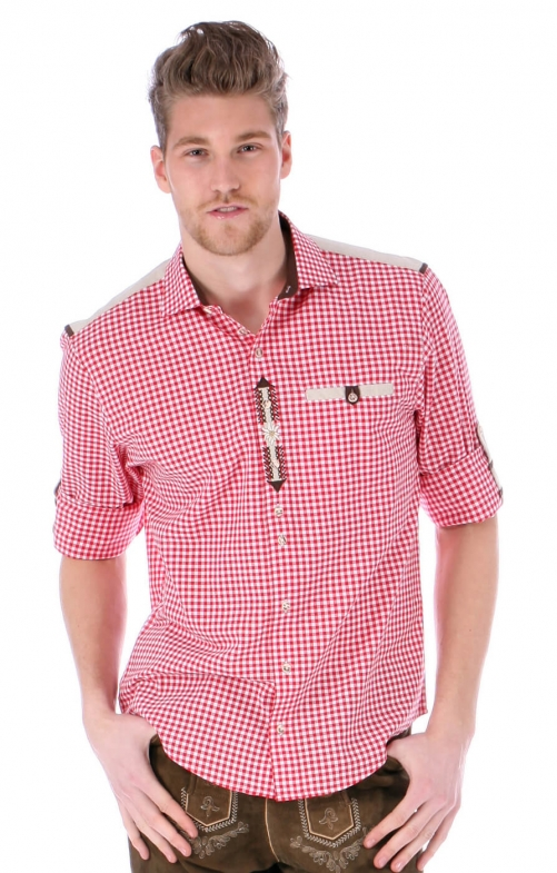 German traditional shirt Cyrill red