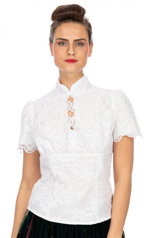 Traditional blouse Lola Paltinger LILLY white