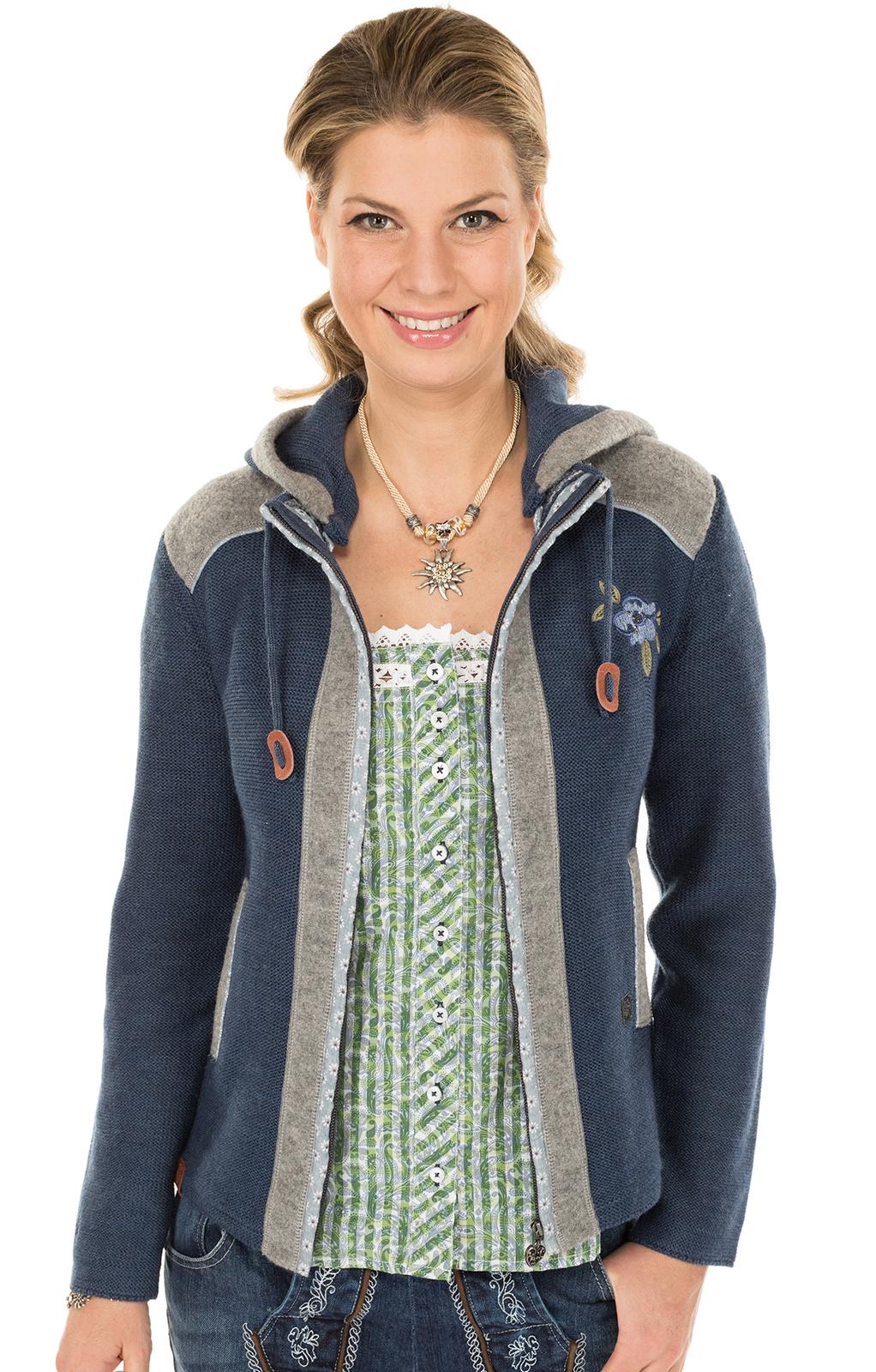 Trachten Strickjacke GRAINET jeansblau von Spieth & Wensky