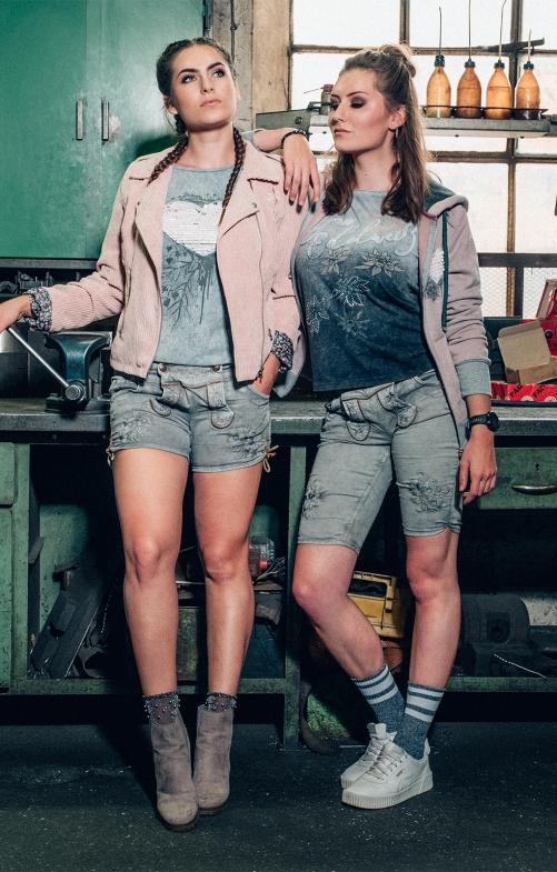 Jeans Short OVIDA hellgrau