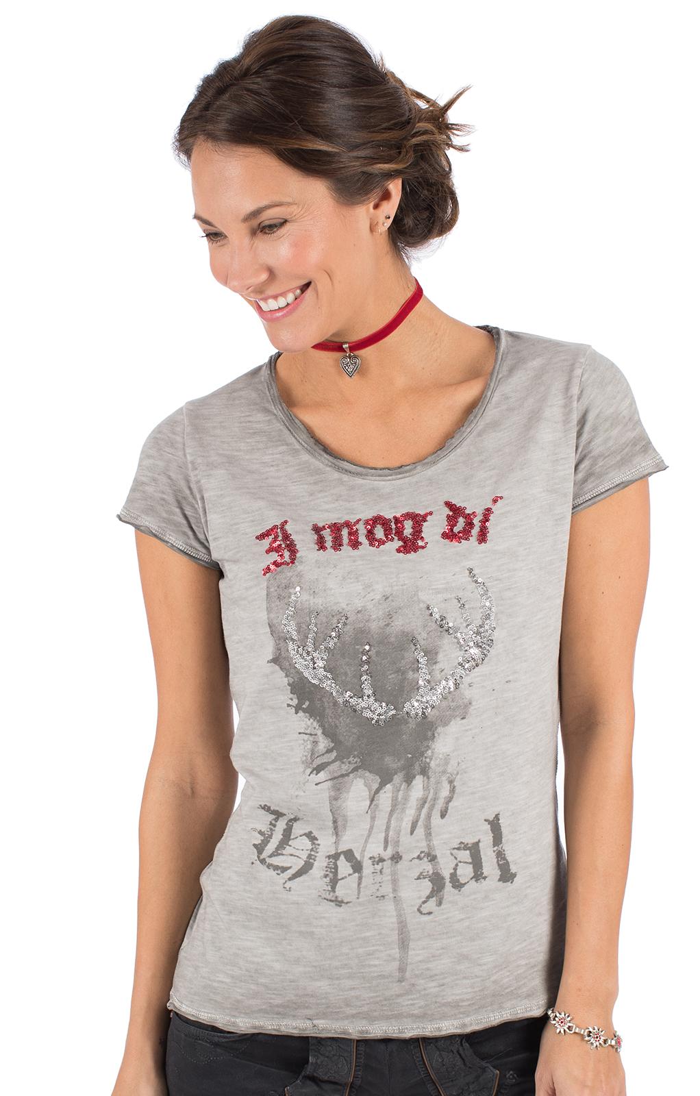Trachten T-Shirt INDIRA grau von Hangowear