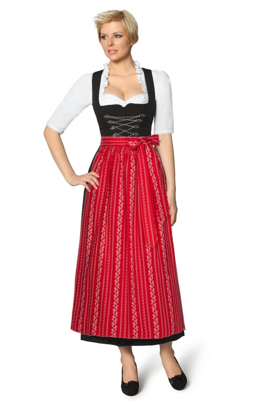 Dirndl long 96cm 1pc. AMBER SC195 red