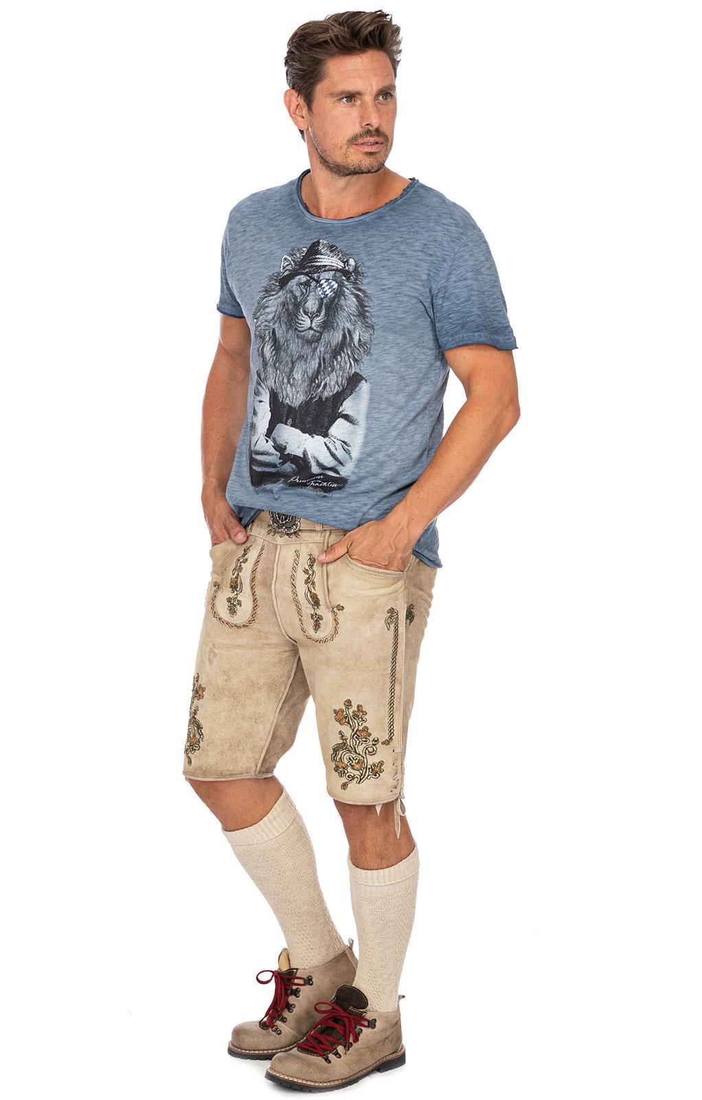 weitere Bilder von Trachten T-Shirt G16 - LEOPOLD blau