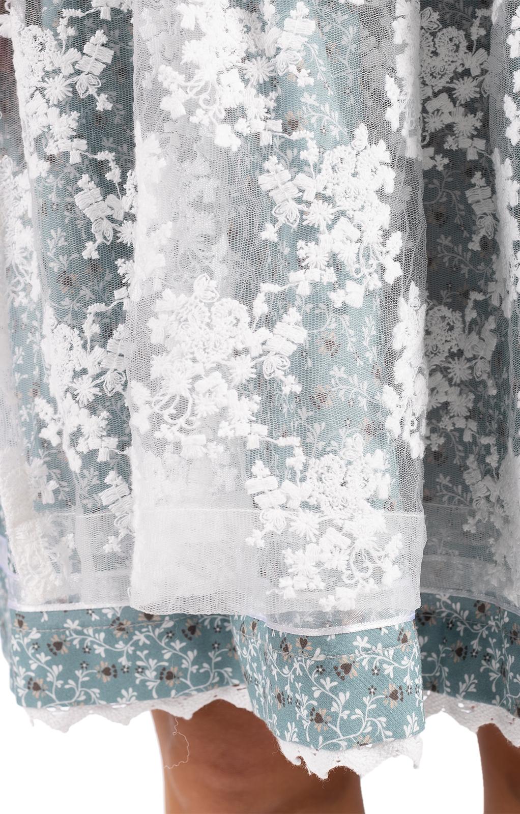 weitere Bilder von Mini Dirndl 2pz. 50 cm FERLA blu ghiaccio rosa antico