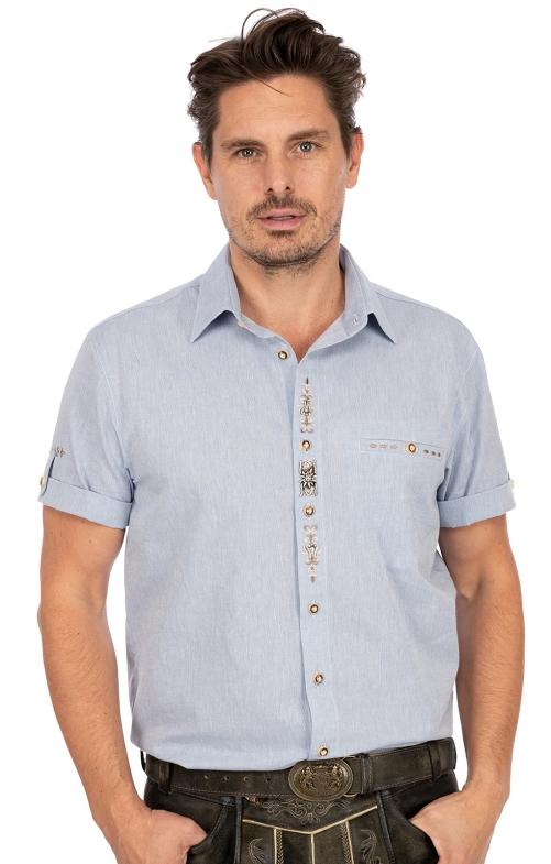 Kurzarmhemd TRAUFBERG blau