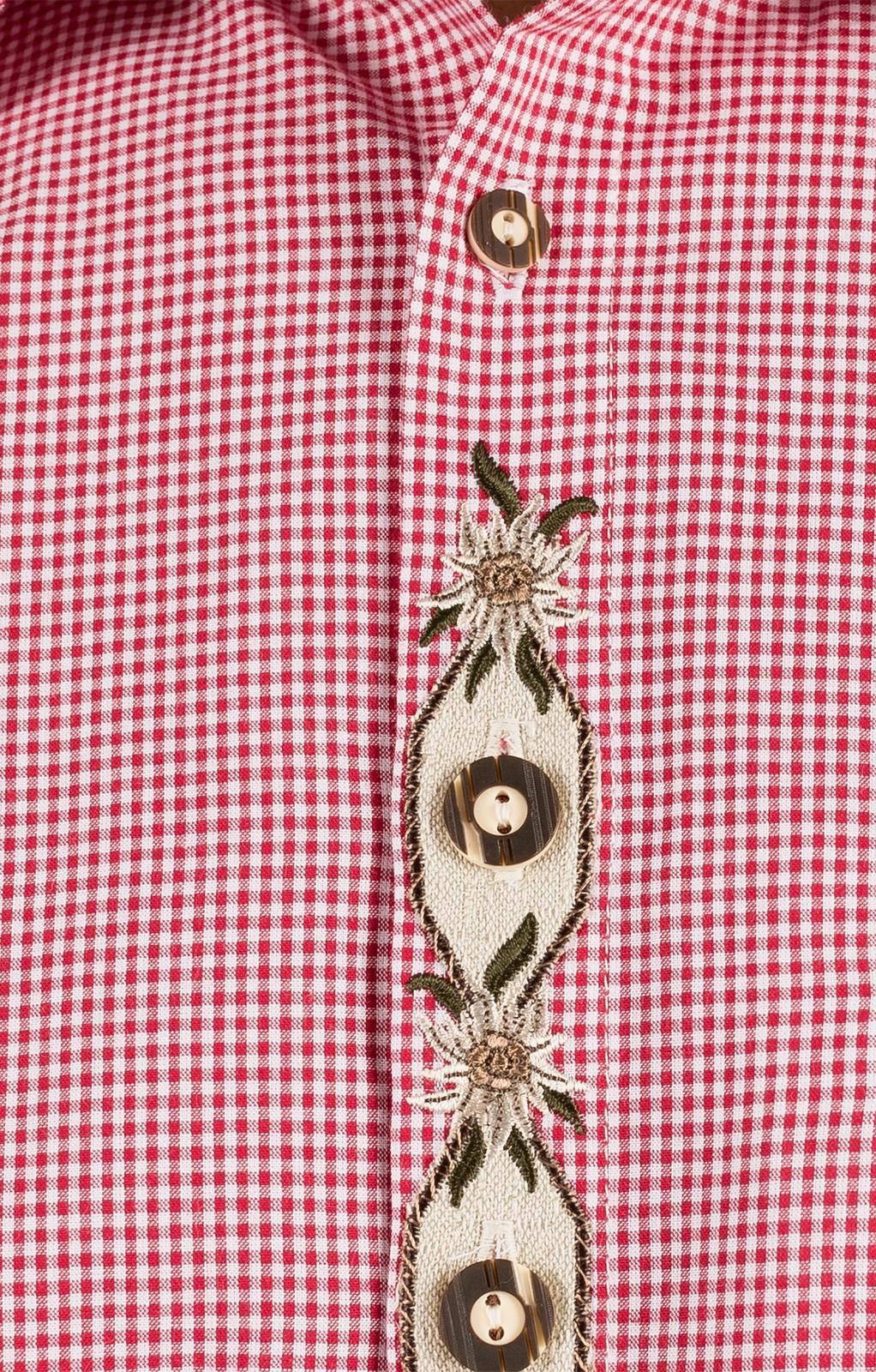 weitere Bilder von Trachten Kurzarmhemd JENS rot