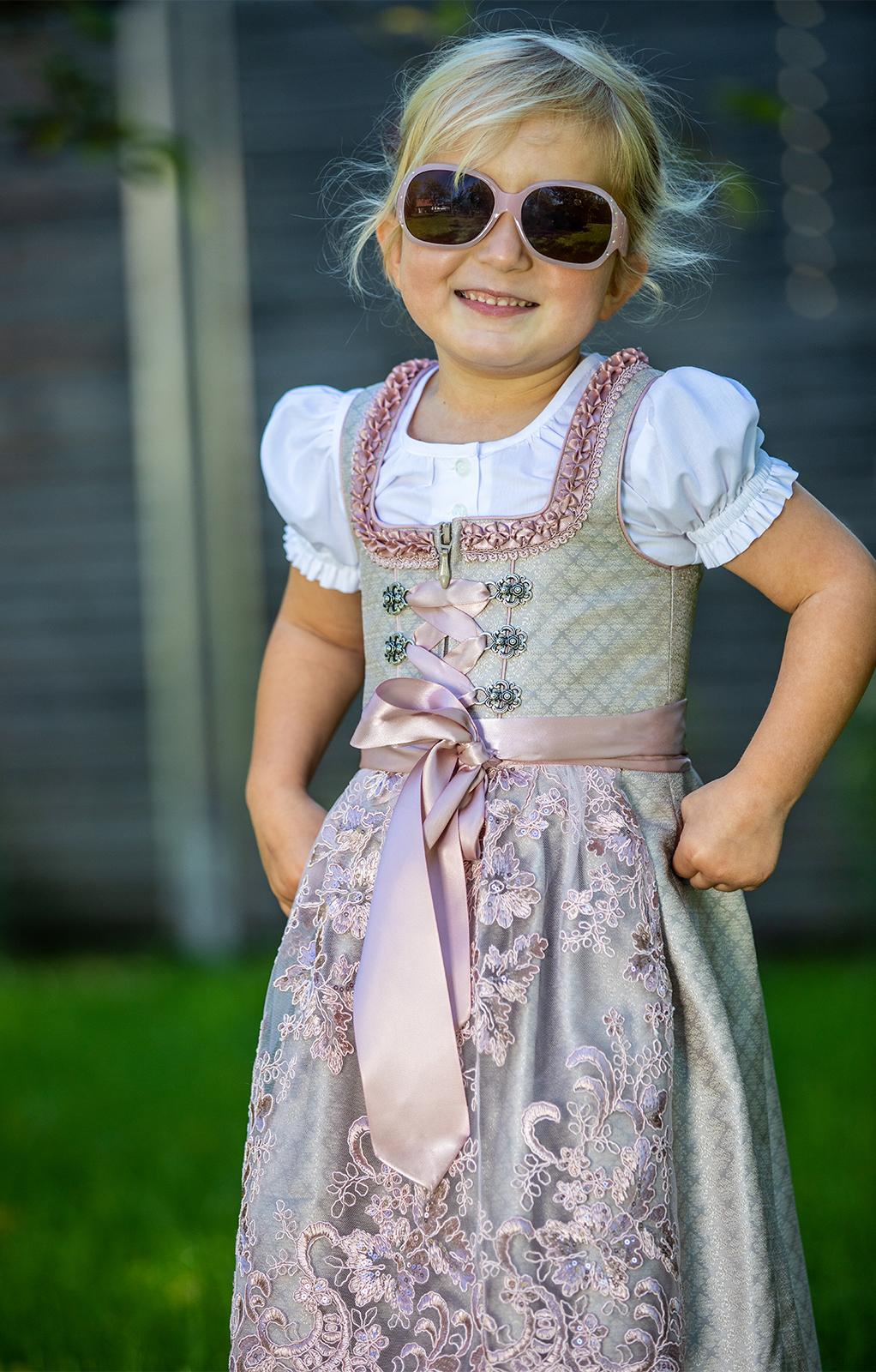 Bambini Dirndl MANANDA KIDS champagner rose von Marjo