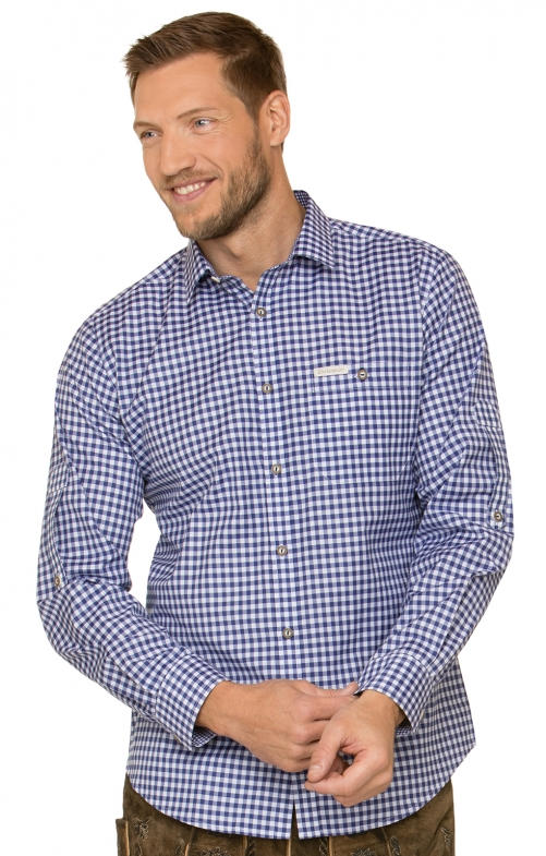 German traditional shirt CAMPOS3 blue