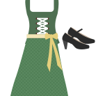 Traditionelles Outfit für das Oktoberfest