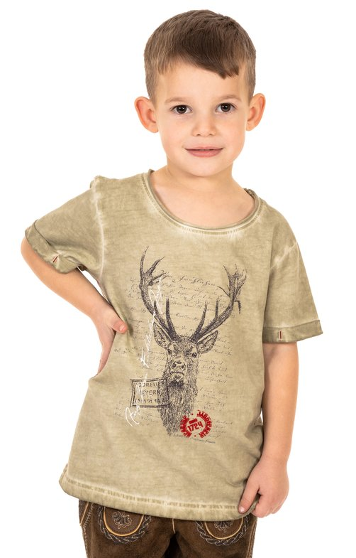 Children traditional shirt M04 - JAGDLIED-KIDS beige
