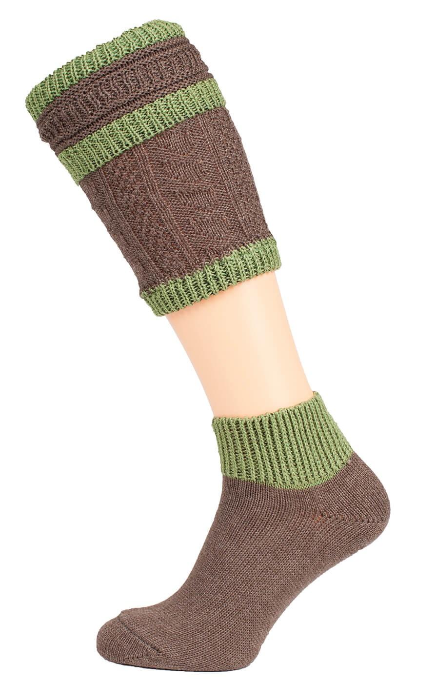 Schuhmacher Loferl set with socks CS508 brown green