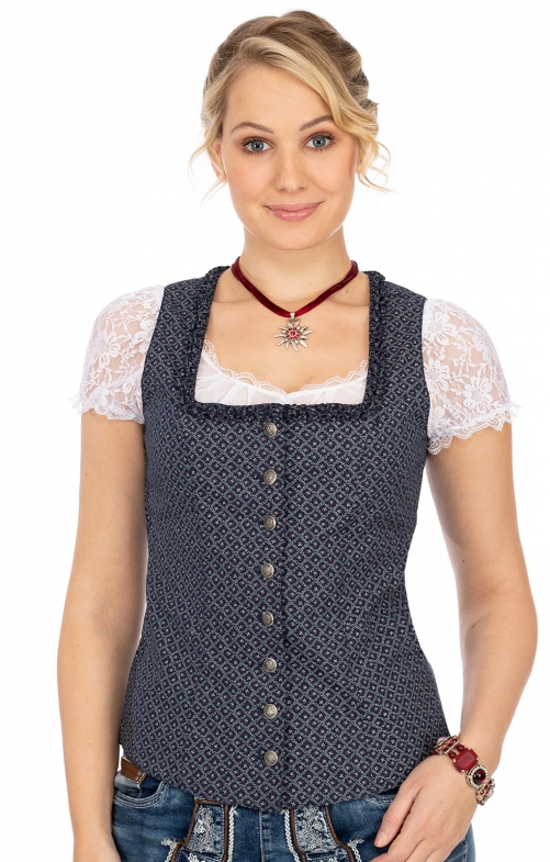 Traditional dirndl corsage MA135 CO blue