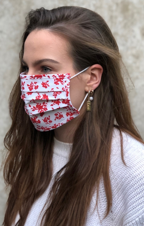 Stoffen masker 2735-34 medium rood