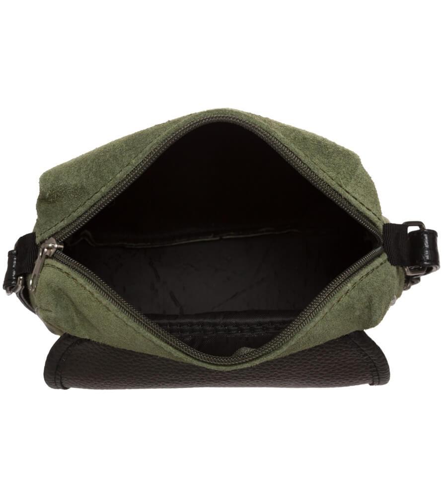 weitere Bilder von Trachtentasche TA3000 Veloursleder, oliv