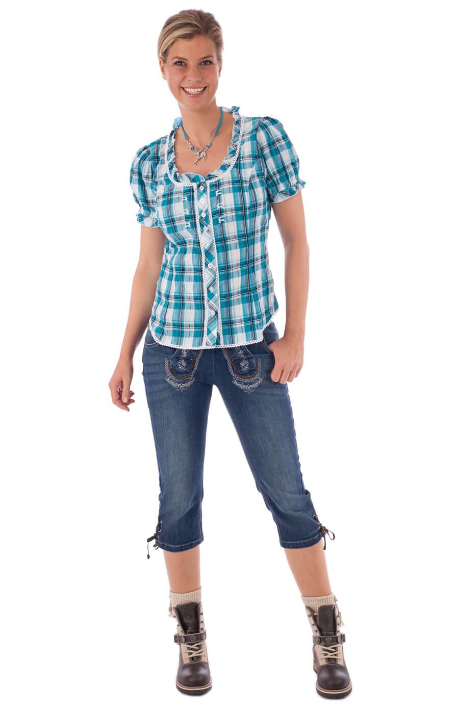 weitere Bilder von Traditional blouse MAREN turquoise
