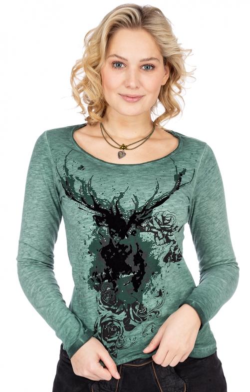 Langarmshirt HANNEROSE dunkelgrün