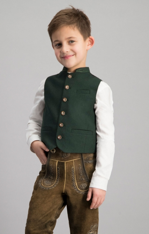 Children's vest ALOIS dark green