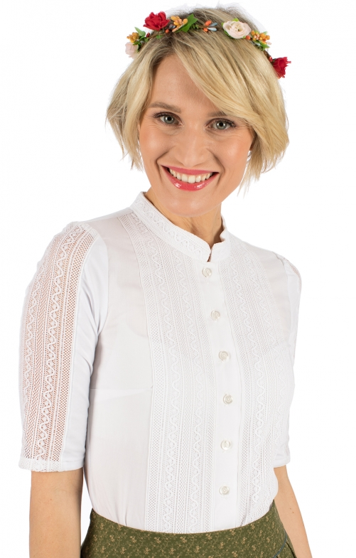 Traditional blouse FELICITAS-EMELY white