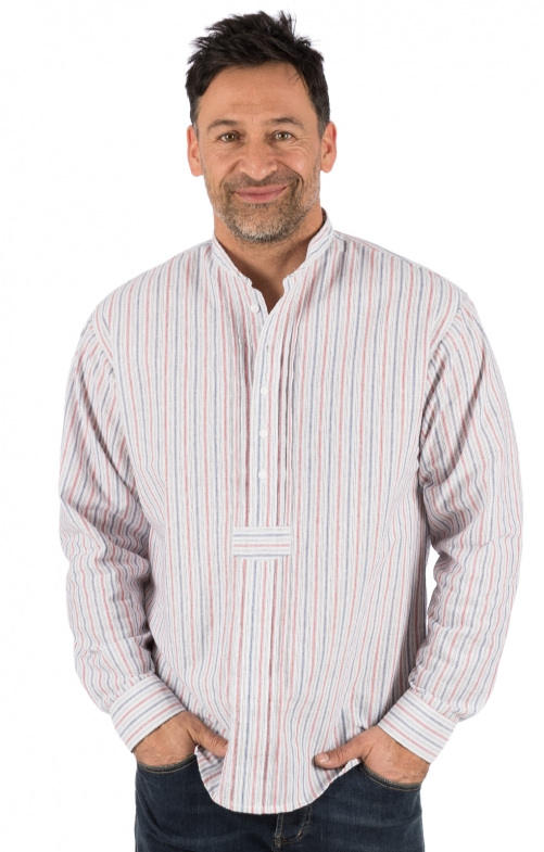 German traditional shirt LEON red blue