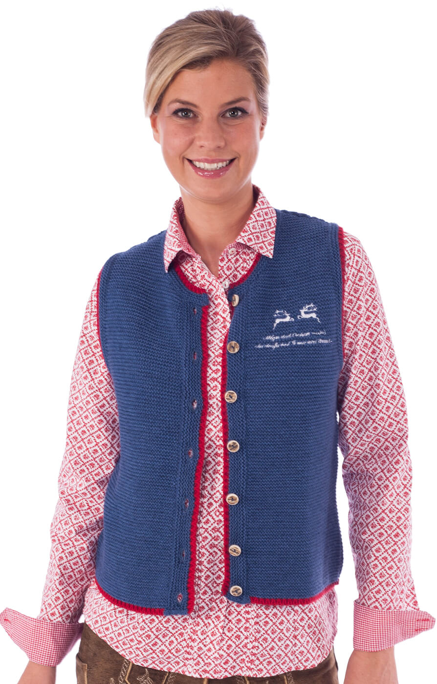 Traditional Jacket Genna blue von OS-Trachten