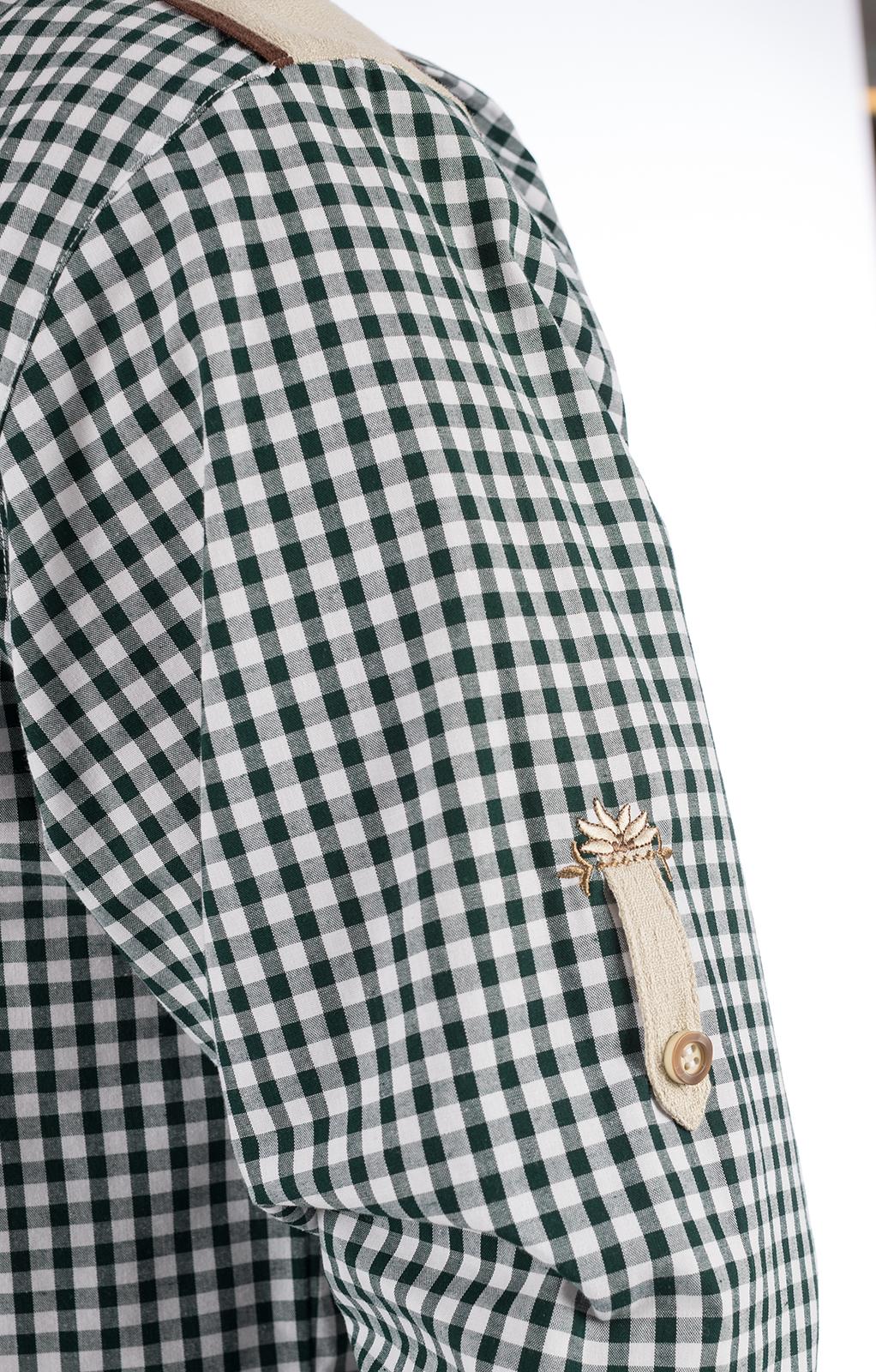 weitere Bilder von Camicia per Trachten mezzo BAVARIA verde