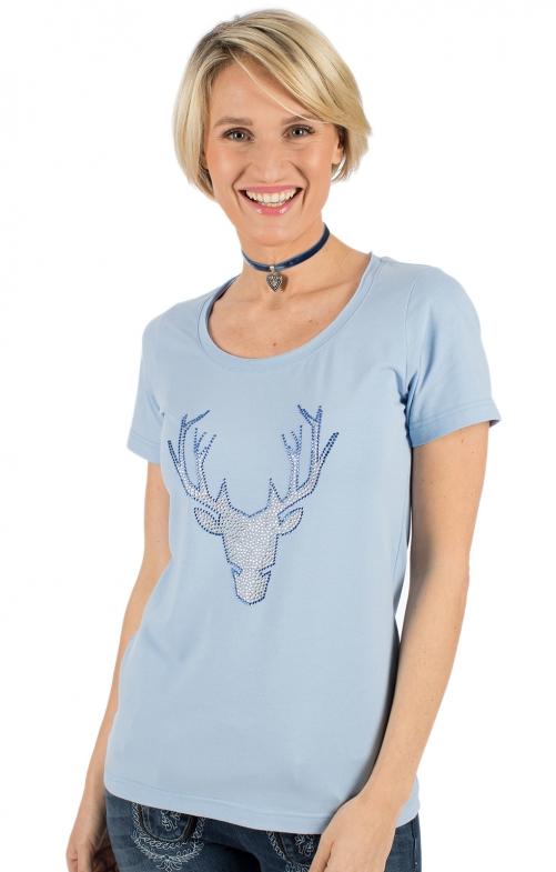 917beeb915786 OS-Trachten Trachten Shirt FRANKA light blue