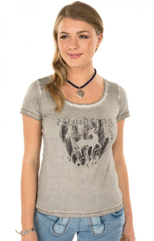 Trachten T-Shirt K02 SILBERHIRSCH silbergrau